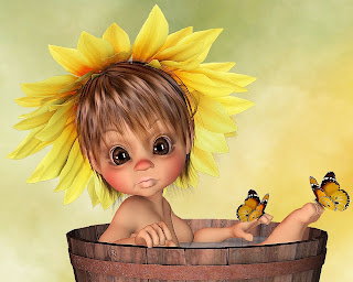 Flower Little Girl Wallpaper 1280x1024