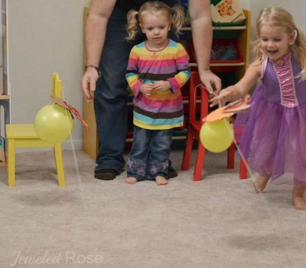 Turkey Balloon rockets- fun Fall activity