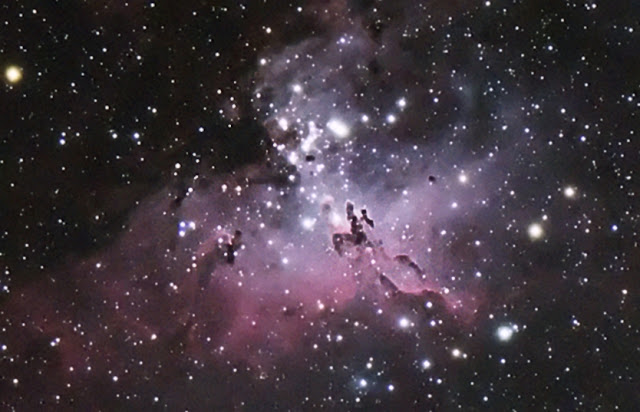 The Eagle Nebula taken with my Explore Scientific ED80 on Celestron CG-5 mount