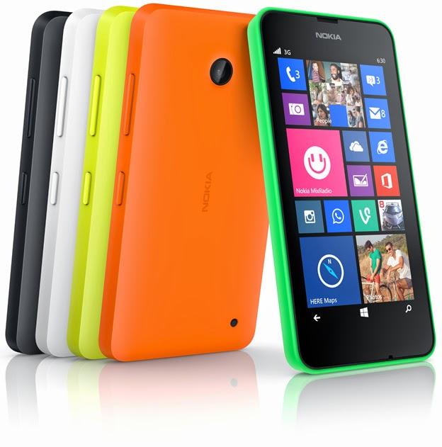 Nokia Resmi Luncurkan Lumia 630 dan 635