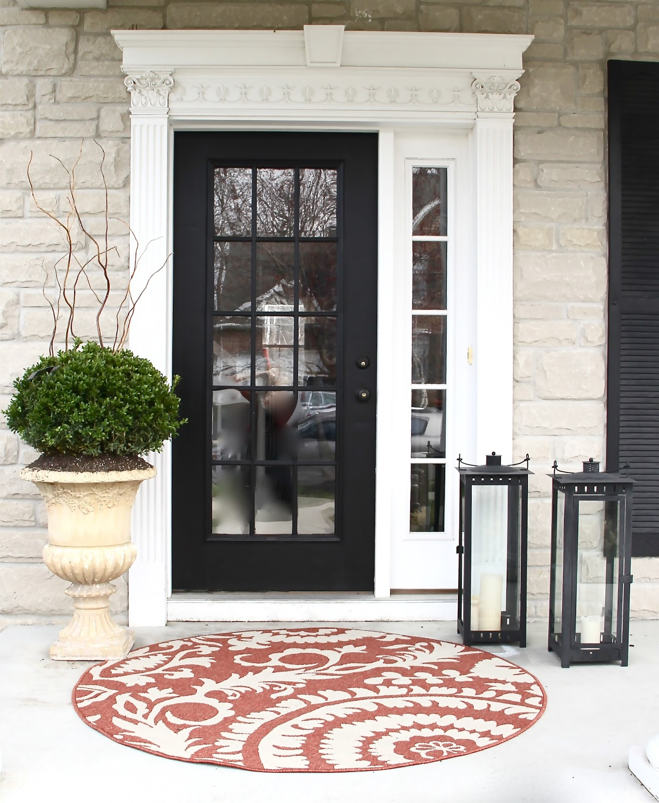 Good Cape Cod Front Door Styles #5: The Yellow Cape Cod: {How To} Create A Low Maintenance High Style Entrance
