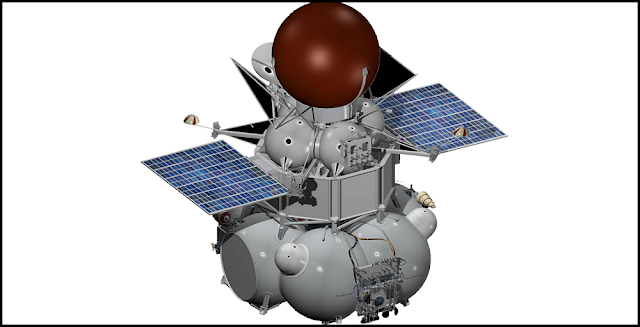 Artist's concept of the Venera-D probe. Image Credit: Roscosmos
