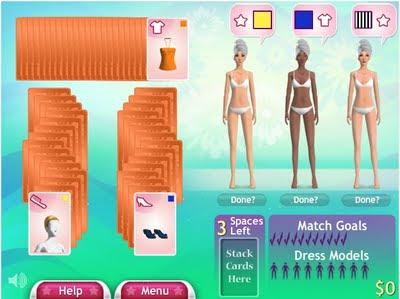 игра для девочек Fashion Solitaire