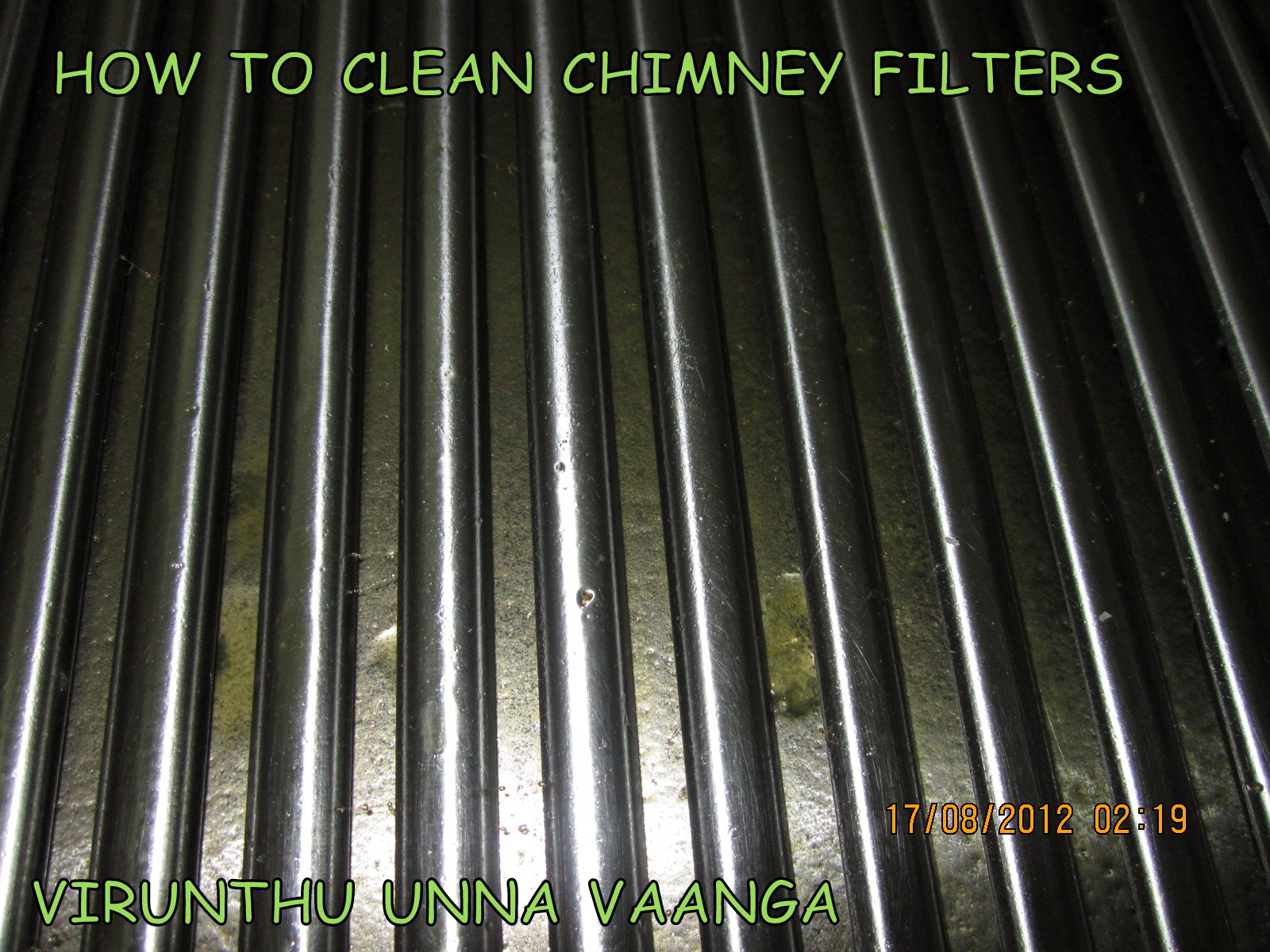 ordinary How To Clean Kitchen Chimney Grease #6: Keep the metal tray on your sink and keep the filters in the tray.