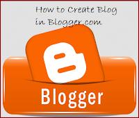 How to Create,Blog,Blogger.com,logo