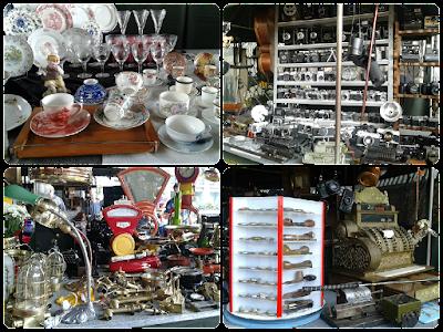 Produtos da Feira de Antiguidades realizada no vão do MASP aos domingos.