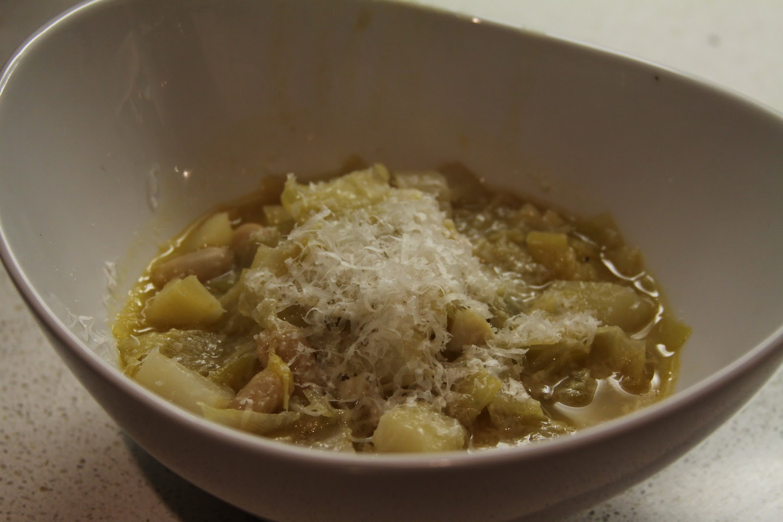 Rustic Cabbage Soup with Cannellini beans and Parmesan :: Plate and ...