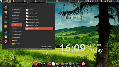 Contoh Desktop Linux Mint 17.1 Cinnamon
