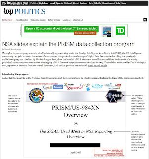 Special Source Operations - PRISM screen shot, Edward Snowden
