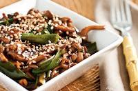 Cogumelos Salteados com Molho Oriental (vegana)