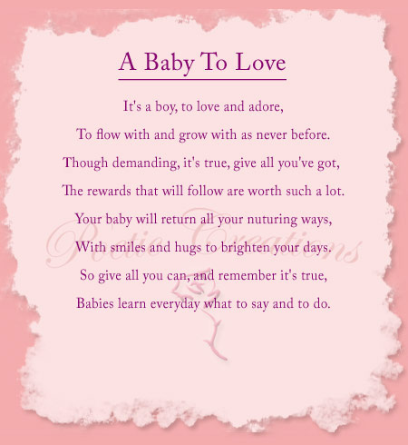 Poems For New Baby Let S Celebrate