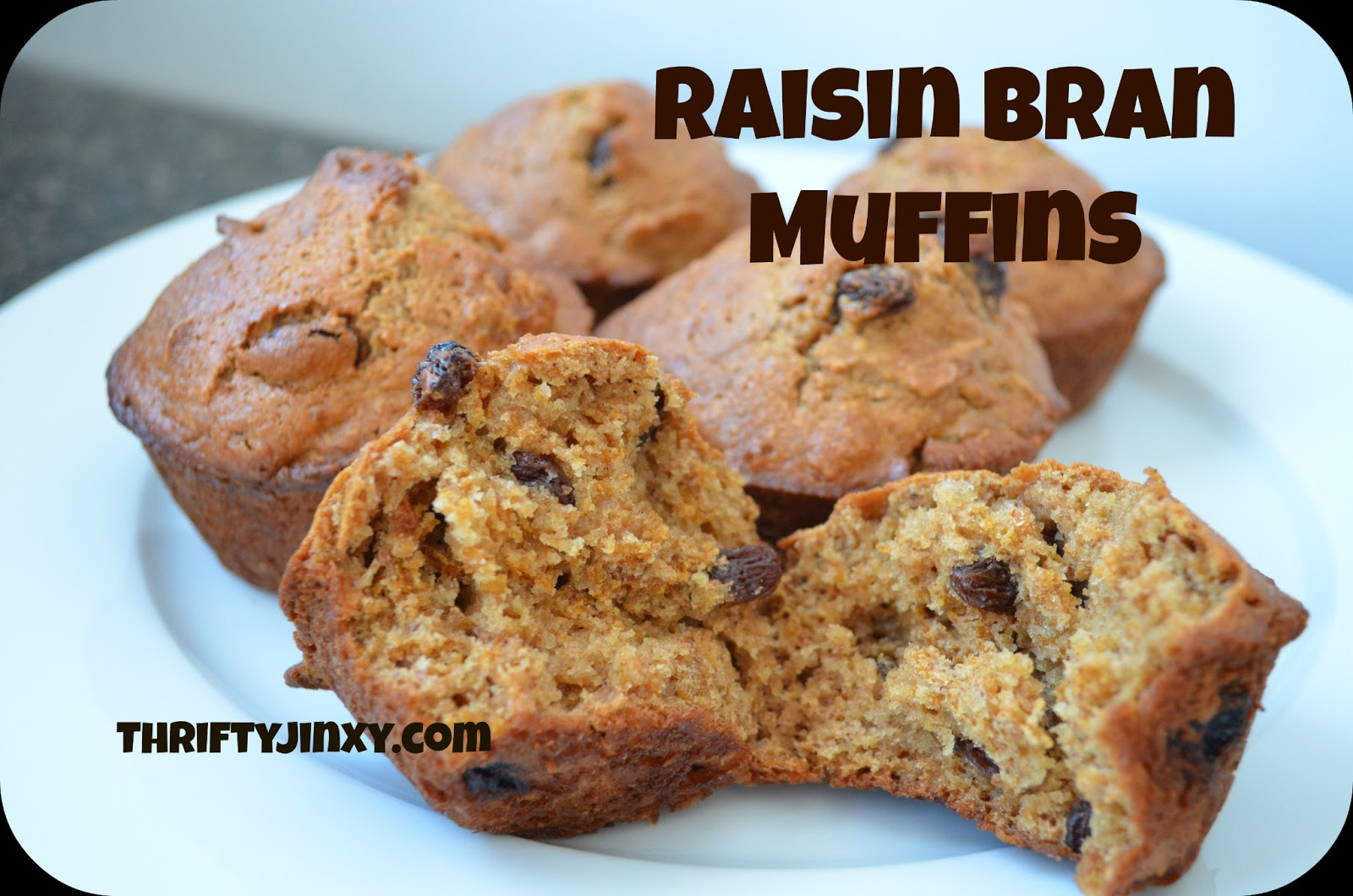 Raisin Bran Muffins Recipe - Great for Breakfast on the GO! - Thrifty ...