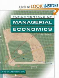 managerial economics by mark hirschey pdf