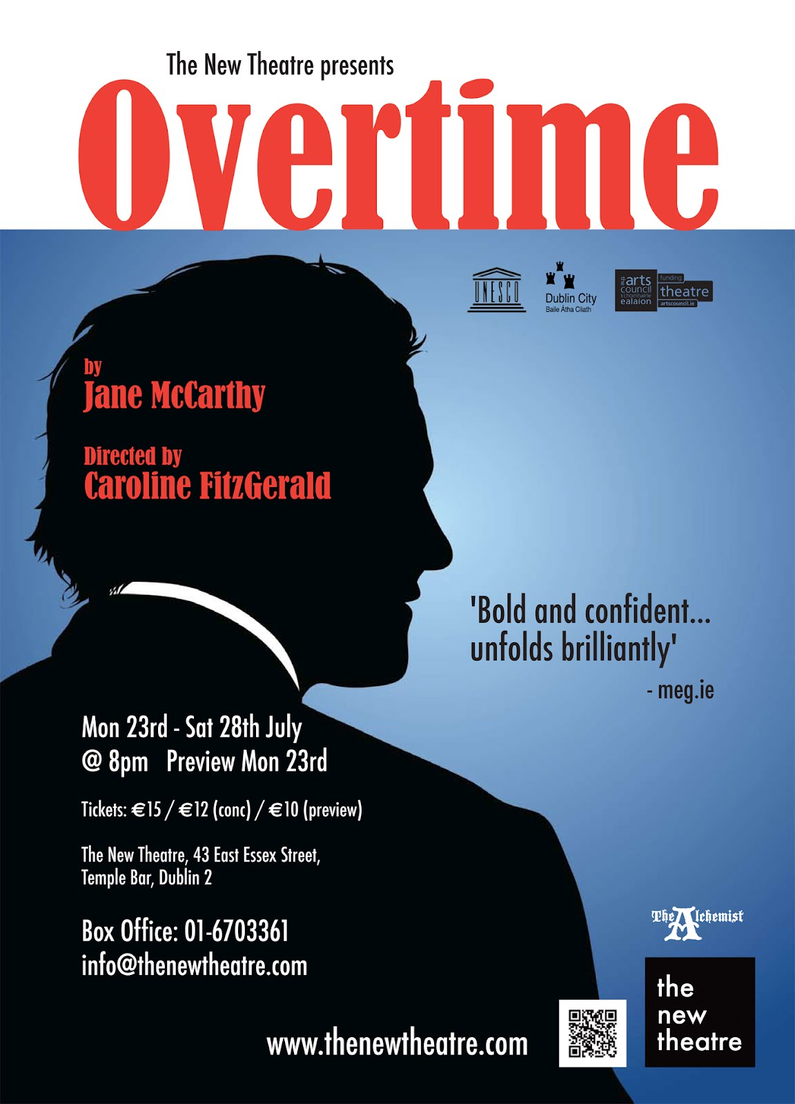 dublinculture ie review overtime overtime tells the story of john a stressed out corporate employee too much work and not enough time overwhelmed by the fear that his incompetence is