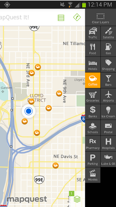 MapQuest_Android GPS app