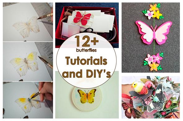 Рукодельный обзор / New Tutorials and DIY's to Try, бабочки, butterflies, handmade, своими руками, мастер классы