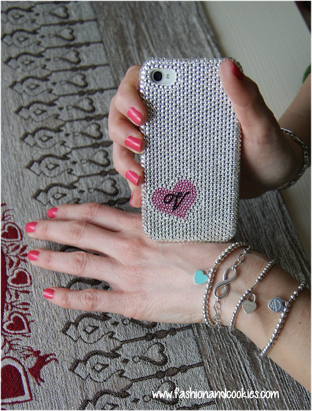 Swarovski crystal iPhone case, Tiffany mini beaded