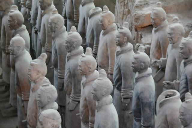 Detalle de los guerreros de Xian.