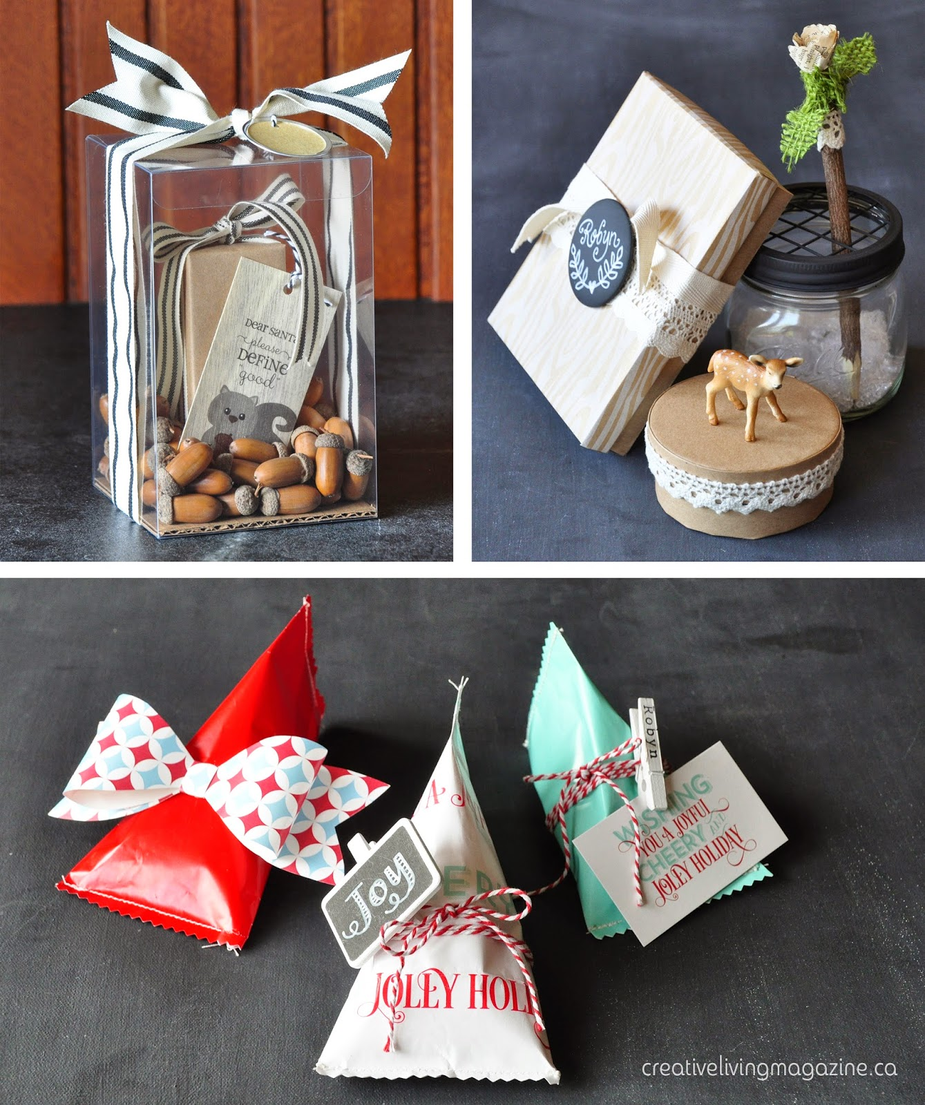 Creative Living Magazine holiday wrapping ideas | Creative Bag