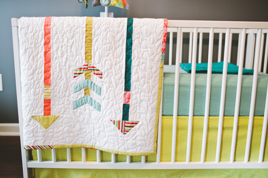 Dancing Commas | Silas' Nursery: Arrow quilt