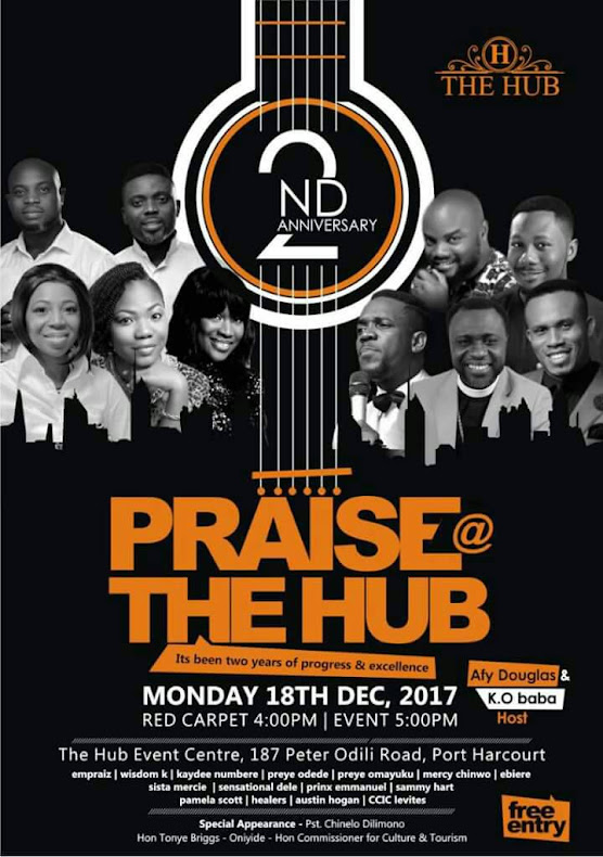 EVENT:KO Baba, Mercy Chinwo, Afy Douglas, Others To Storm Praise At The Hub 2017