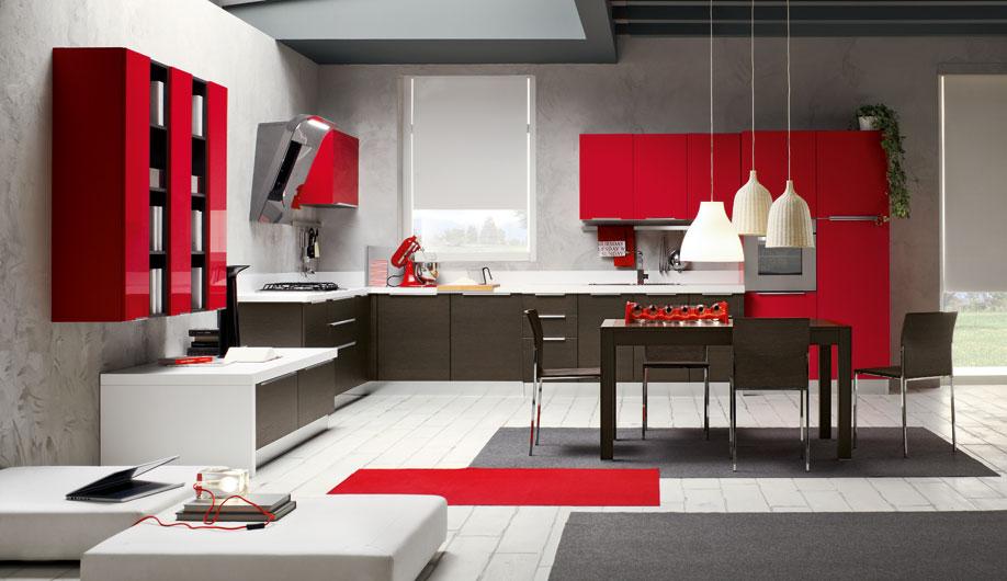 Cocinas en rojo pasión  Cocinas con estilo