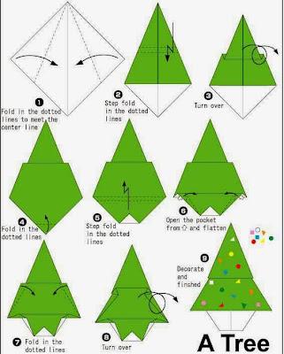 Origamis de Natal - Árvore de Natal