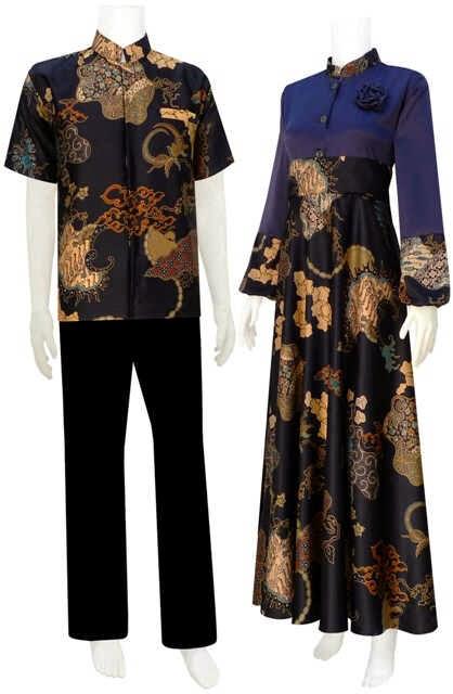 Model Baju Gamis Semi Sutera Batik Bagoes Solo