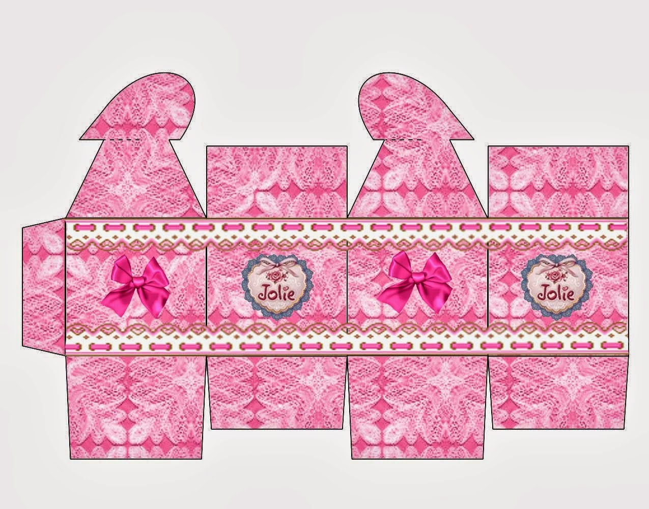 Jolie Dolls: Free Printable Boxes with Heart Closure.