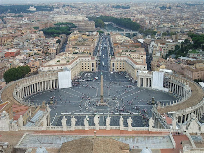 st peters square, the vatican, great view from tower