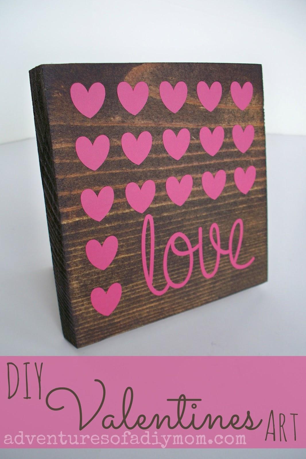 Wood and Vinyl Valentines Art