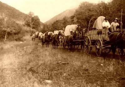 It is said that phantom wagon trains make their way along what was the Ole Copper Road or Copperhill Road in Polk County, Tennessee