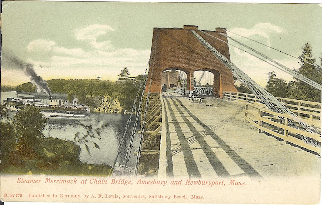 chain bridge postcard