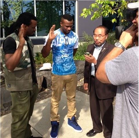PSquare Peter & Paul Okoye Sworn In As Honorary Calgarians In Canada (Photos)