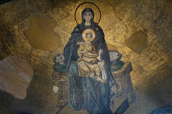 apse mosaic mary2 c osseman أيـا صوفيا كنيسة ثم مسجد واخيرا متحف ! بالفيديوا و الصور