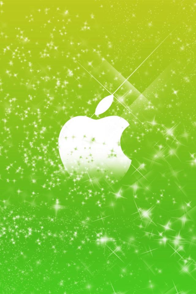 Iphone+4s+Green+Apple+Logo En Güzel İphone 4s Resimleri