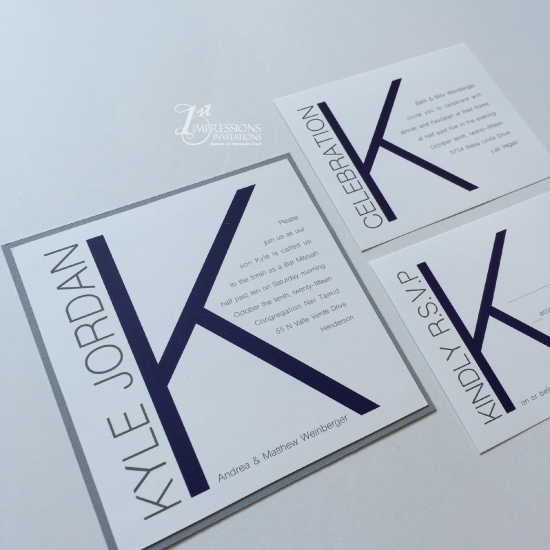 1st impressions invitations contemporary bar mitzvah invitations by