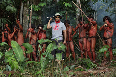Eli Roth on the set The Green Inferno