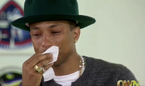 Pharrell Cries Over Happy On Oprah