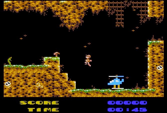 DITCH (Deeper In The Cave, Helipilot) para ordenadores Atari