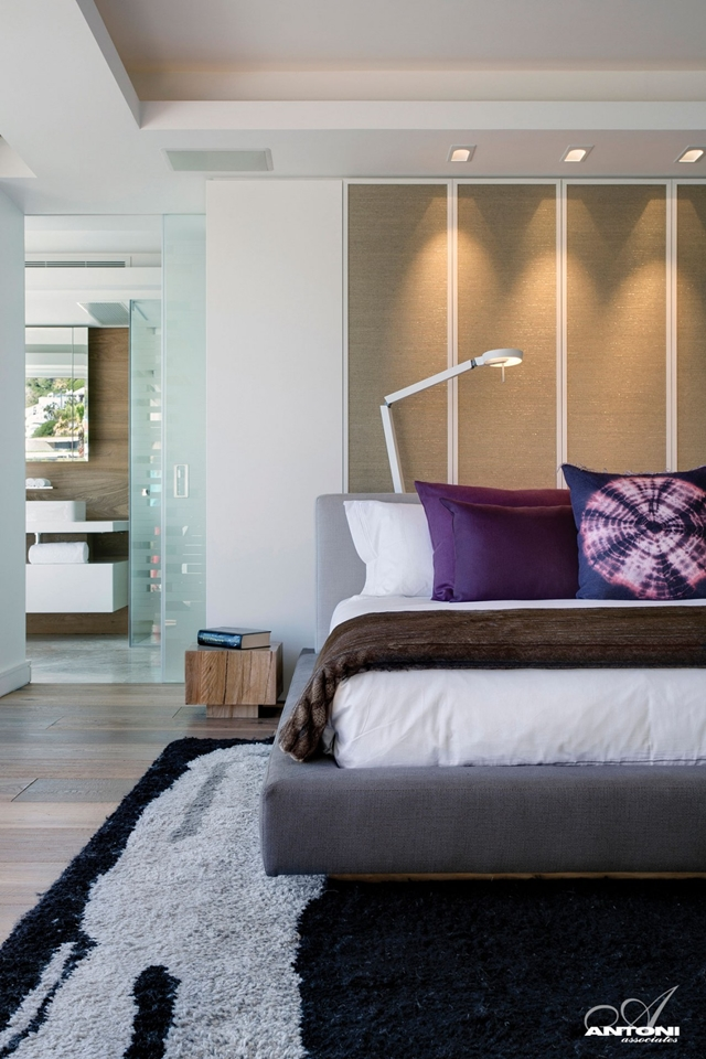 Picture of modern bed in the bedroom