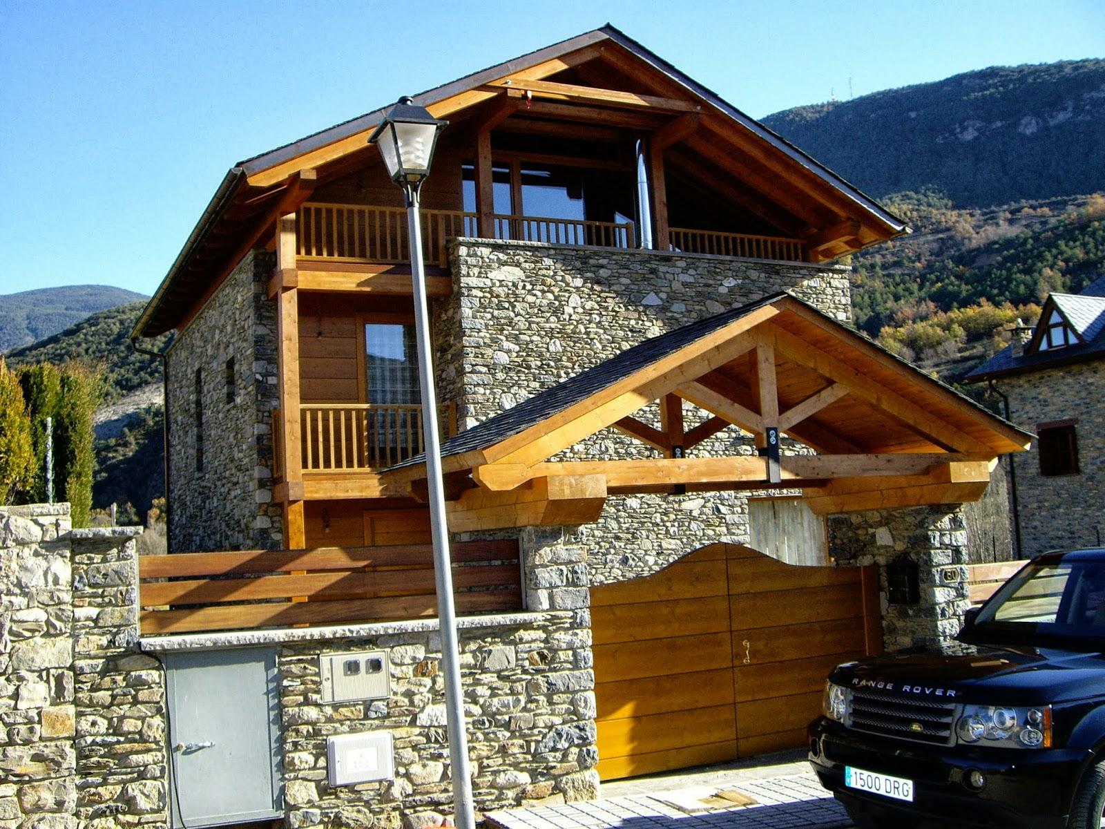 La casa de madera una opci n de salud blog de muebles ros - Chalet de madera y piedra ...