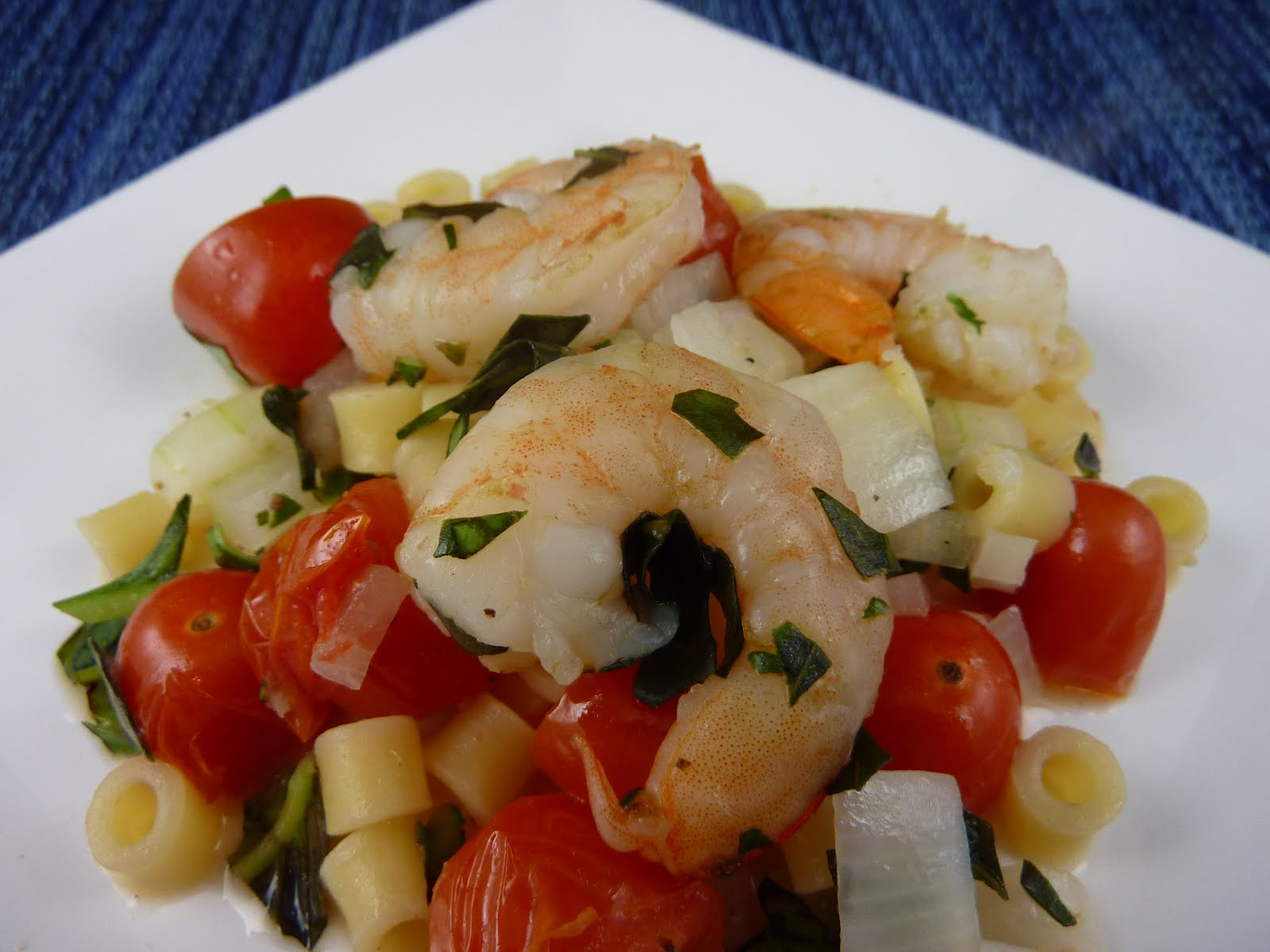 Cookies on Friday: Basil Shrimp with Feta and Orzo