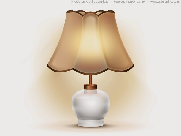 Old Table Lamp Icon PSD