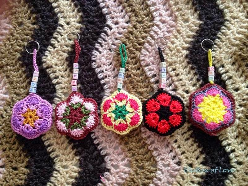 African Flowers: Key Chains