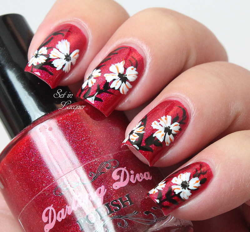 Far East Floral Nail Art Set In Lacquer