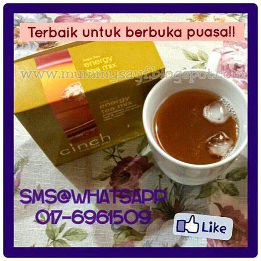 TESTIMONI CINCH TEA SHAKLEE