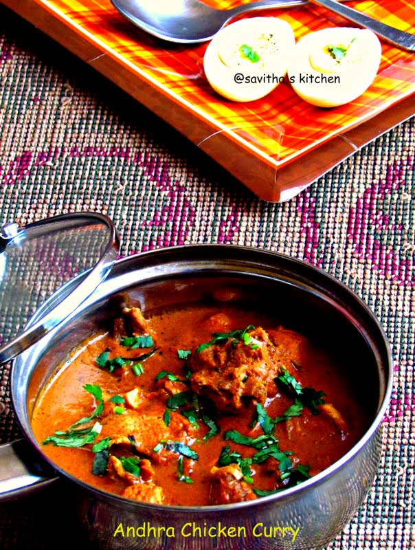 Savitha'S Kitchen: Kodi Kura / Andhra Chicken Curry - Best Chicken