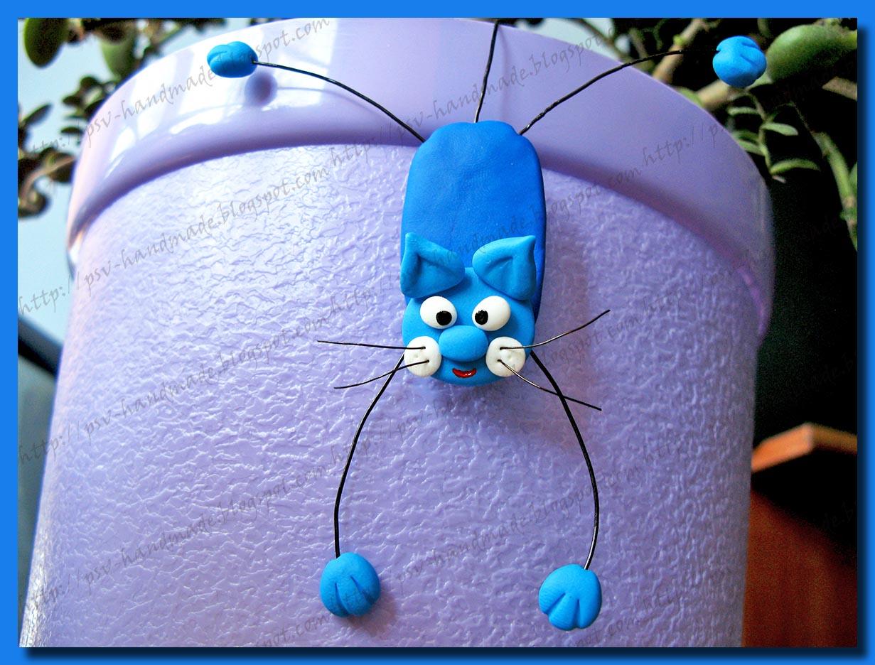 Кот из полимерной глины