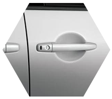 Door handle with Keyless Operating System (KOS) delica